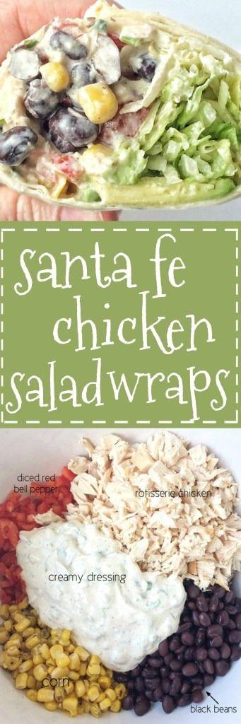 Santa Fe Chicken Salad Wraps Recipe
