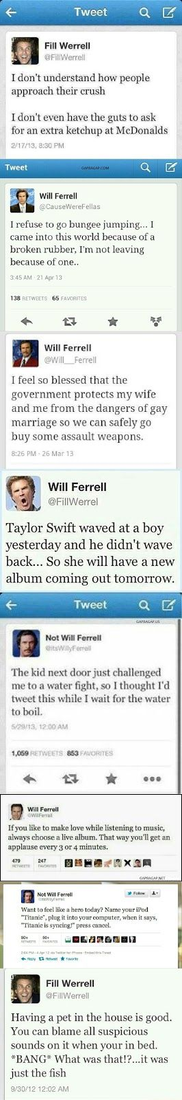 Top 8 Hilarious Tweets By Will Ferrell (Favorite Meme Hilarious)