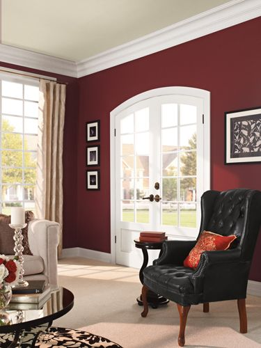 A deep hue—Behr's Twinberry—adds depth to the walls without going overboard.