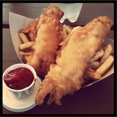 Our fish and chips in Vintage! Photo Credit @ashleybchow
