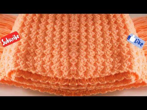 طريقة عمل غرزة كروشيه شتوى جميلة لعمل كوفية بلوفر جاكيت بطانية سهلة للمبتدئين Youtube Crochet Crochet Hats Crochet Patterns