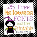 Free 25 Fonts and Halloween Free Printable by the 36thavenue.com25 Halloween, Halloween Free, 36Th Avenue, Free Halloween, Free Fonts, Halloween Printables, Fonts Printables, Free Printables, Halloween Fonts