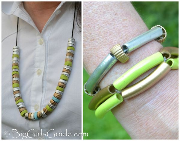 Fashionable Macaroni Necklaces Great for Mothers Day #crafts #mothersday #gift #Jewelry