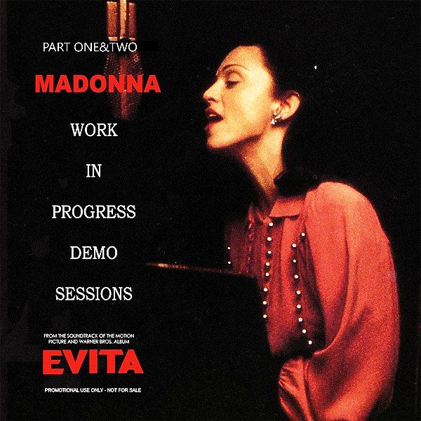 """Evita"", the movie is still my favorite ""Madonna Movie"". She was absolutely brilliant. Acting and singing. The Oscar should have been hers. Enjoy this collection of 47 Demos belonging to the Evita Soundtrack. Just join Madonna - The Supreme Real Music Diva!  1. Requiem For Evita 2. Oh What A Circus 3. Salve Regina 4. Now Eva Peron 5. On This Night Of A Thousands Stars 6. To Think That A Man 7. Eva Beware Of The City 8. Buenos Aires 9. Another Suitcase In Another Hall 10. Goodnight And Thank…"
