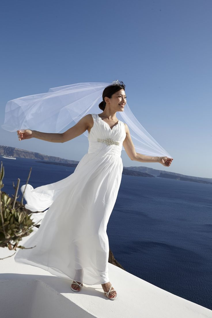 stunning bride Santorini weddings