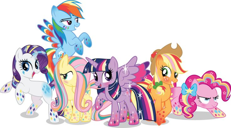 Photo of rainbow power ponies for fans of My Little Pony Friendship is Magic.