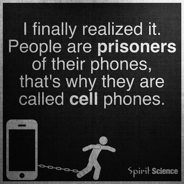 People are prisoners of their cell phones. Cell phone addiction addicted to your phone.