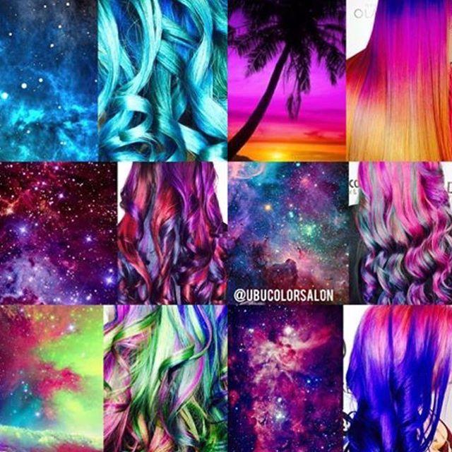 314 Best Galaxy Hair Images On Pinterest Galaxy Hair