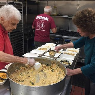 """Today we made chicken chili for 70 and Georgine told me how much she dislikes Halloween. I dropped her off at her seniors meeting and she said """"It's a costume theme today 🙄. I'm going as an old woman who's tired of dressing up."""" #georginesays"""