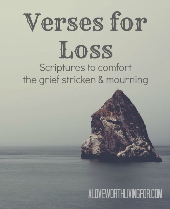 verses for loss scriptures to comfort the grief stricken