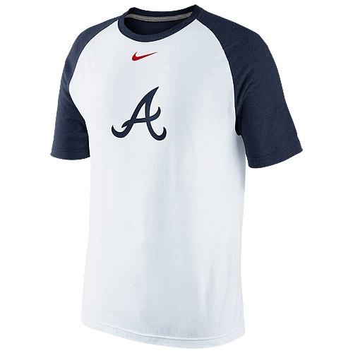 Atlanta Braves DriFIT Cotton Raglan TShirt by Nike MLB