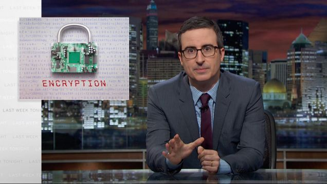 """The FBI and its supporters can be weirdly dismissive of [the encryption] issue, in ways that indicate they don't fully understand how technology works—or are pretending not to,"" explained Jon Oliver on Last Week Tonight. And so begins his wonderful take on the state of encryption."
