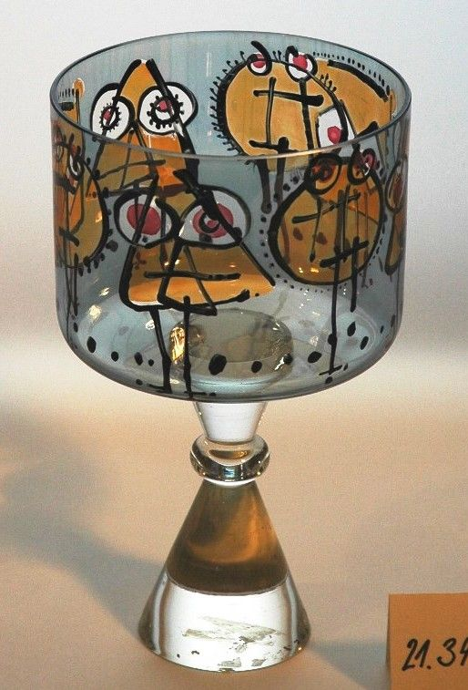 Frantisek Tejml, painted glass goblet, 1965, H: 21,0 cm, Zelezny Brod (Eisenbrod), Czechoslovakia (property of Moravian Gallery in Brno), Czechoslovakia