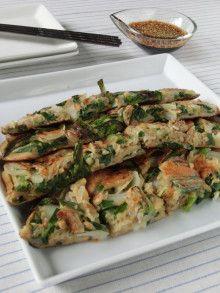缶詰&びん詰食品で簡単韓国料理!!あさりと海苔の佃煮の海鮮チヂミ|もこもこチャレンジ☆