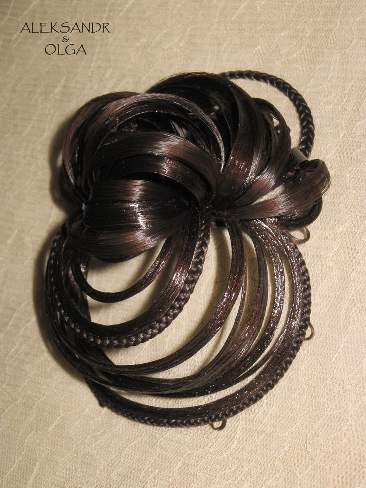 Украшение - ПУЧОК для Волос - постиж (из натуральных волос) с элементами плетения http://www.aleksandr-and-olga.ru/ http://www.livemaster.ru/hair-jewellery