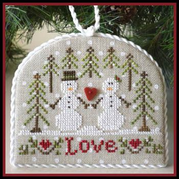 Snow Love - cute for Christmas and all winter.  I love the fabric with the white dots.