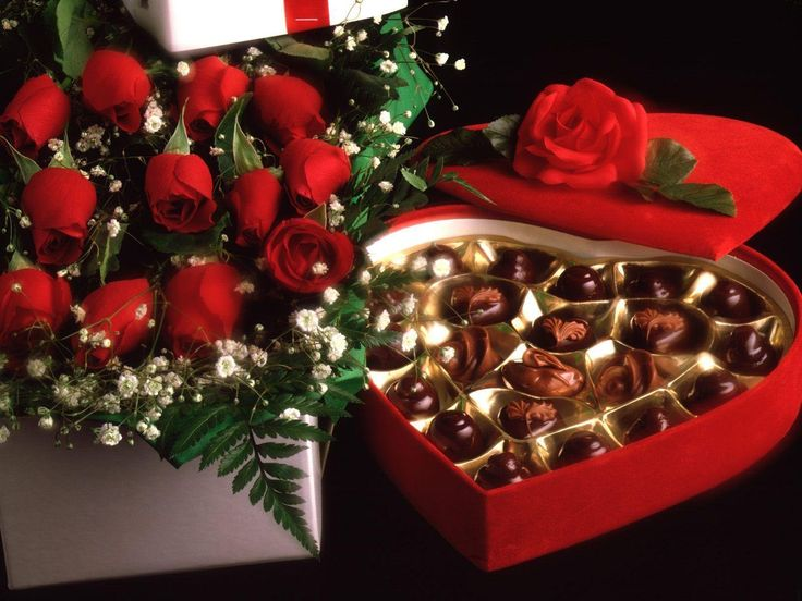 Chocolate heart box!