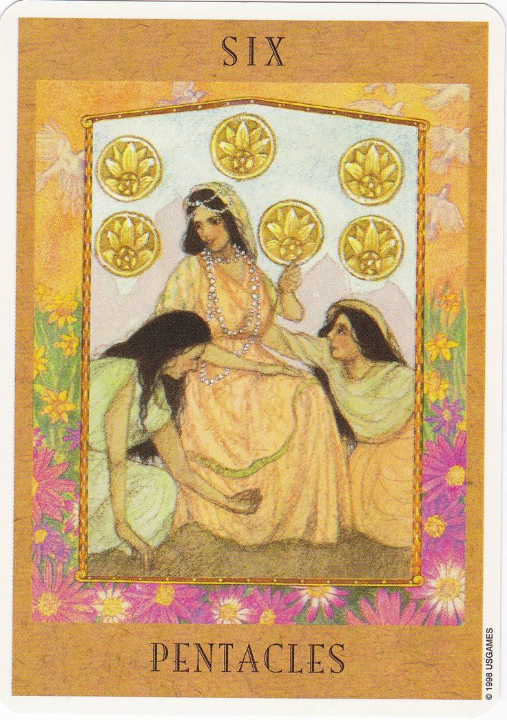 9 Best Six Of Pentacles Images On Pinterest