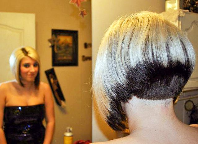 Inverted Bob Hair Styles: Showing Off Her Short Bob Haircut