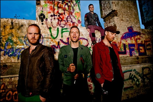 the boys of coldplay. i really like their music and chris martin's (lead singer) wierdness