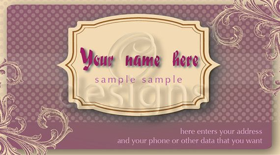 Buy Digital Business Calling Card Elegance Template No 4 by odesigns. Explore more products on http://odesigns.etsy.com
