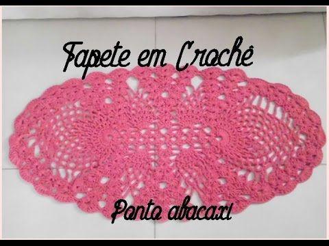 tapete de crochê oval em barbante mesclado parte 4 - crochet rug - alfombra de ganchillo - YouTube