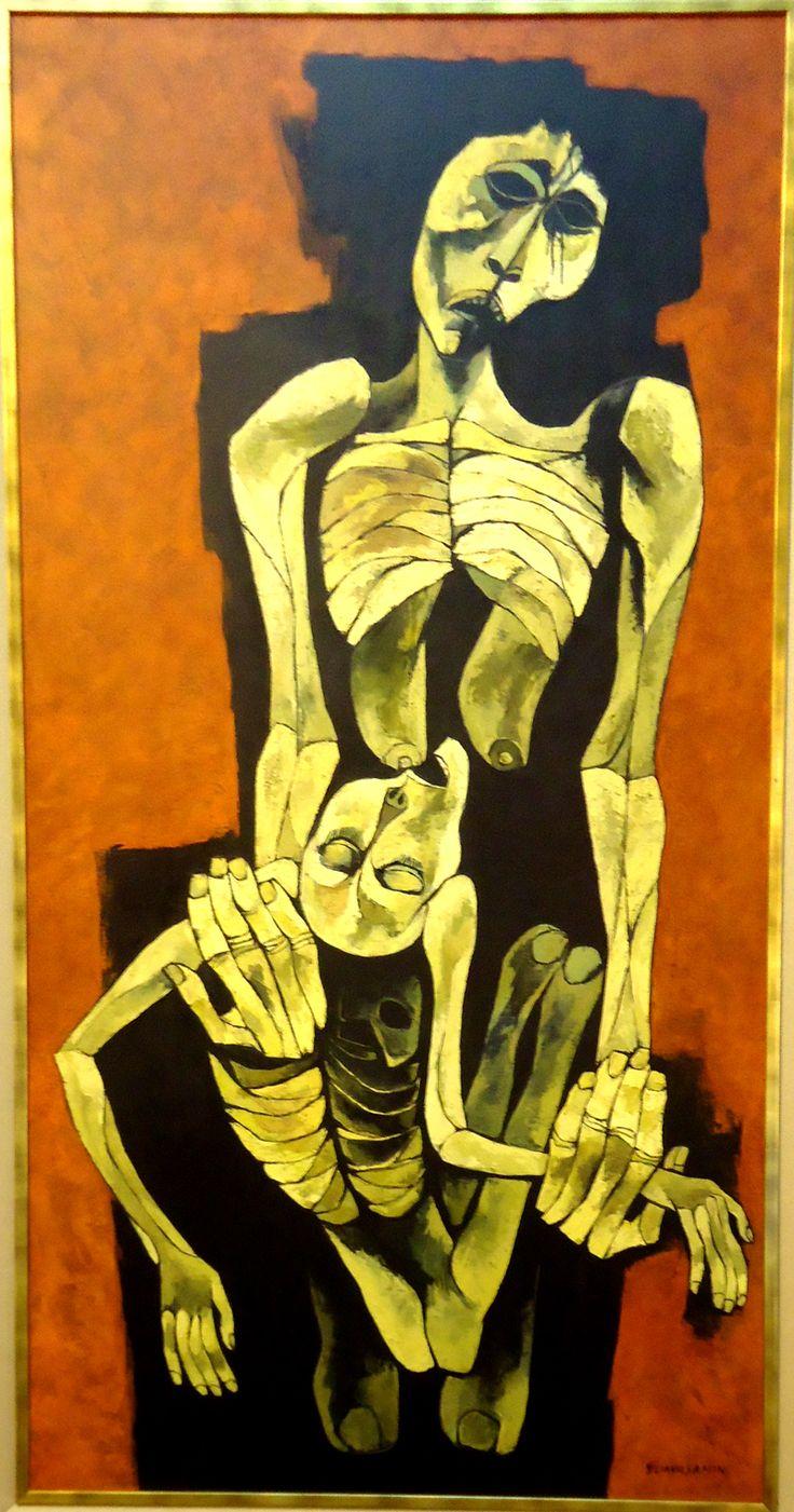 La Capilla del Hombre: Aquí están algunas pinturas realizadas por Oswaldo Guayasamín.