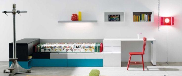 sencillez de líneas para este dormitorio juvenil apilable www.moblestatat.com horta barcelona