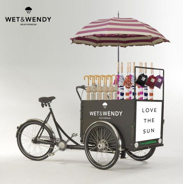 Bicycle Carts Wagons | ww bike cart 605x608 Wet and Wendys Wonderful Weather Wagon