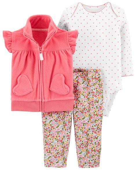 18e4120a7 3-Piece Little Vest Set | Matthyew&Rileigh | Carters baby girl ...