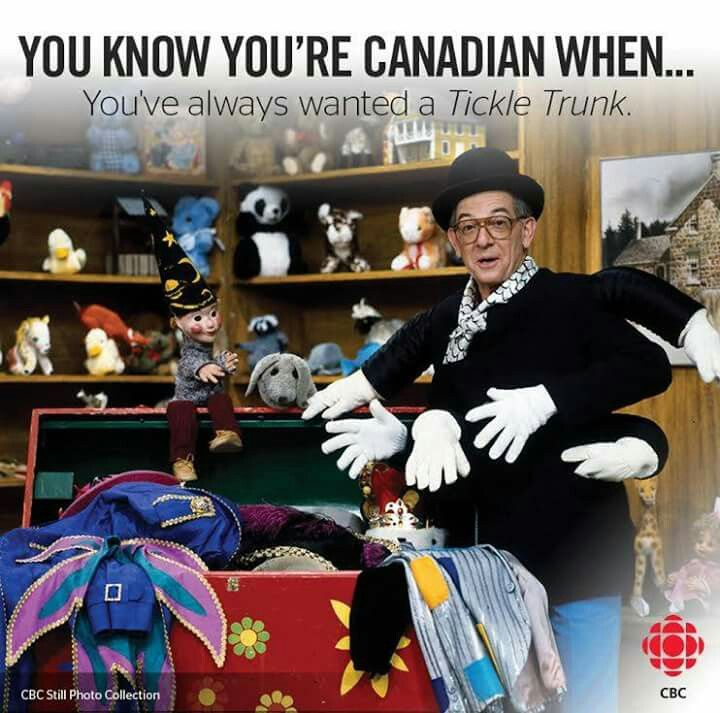 Oh my God, Mr Dressup! I haven't thought about him in years!! Didn't know it was a Canadian thing.