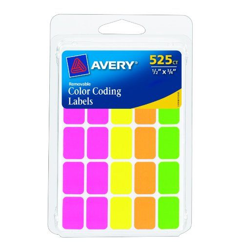 $2 Avery Rectangular Color Coding Labels, Assorted, Removable, Pack of 525 (06721) Avery,http://www.amazon.com/dp/B004INKH08/ref=cm_sw_r_pi_dp_g.2btb0RC3791TNJ