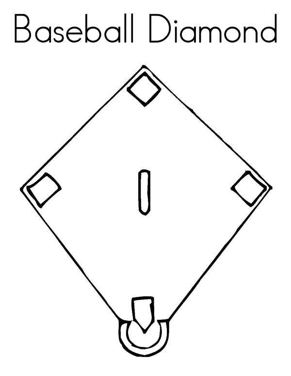 Diamond Shape Baseball Diamond Shape Coloring Pages