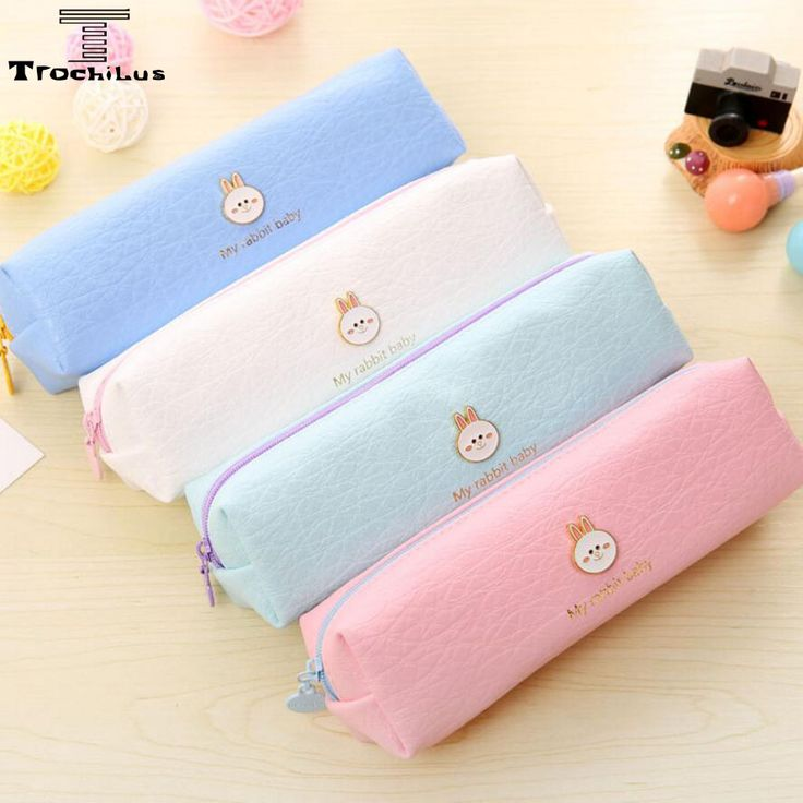 Cute Bunny pencil case 18535cm School Pencil