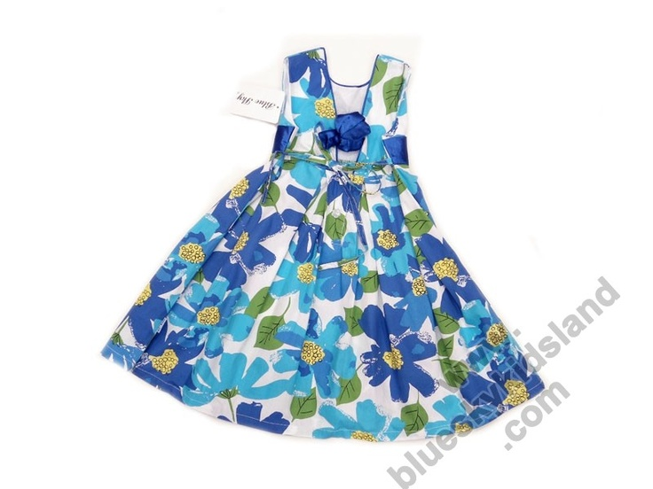 Blue Sky Kids Land 100% cotton ruffle dress with gorgeous floral prints