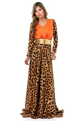 Threadz Leopard print dress, available via www.namshi.com