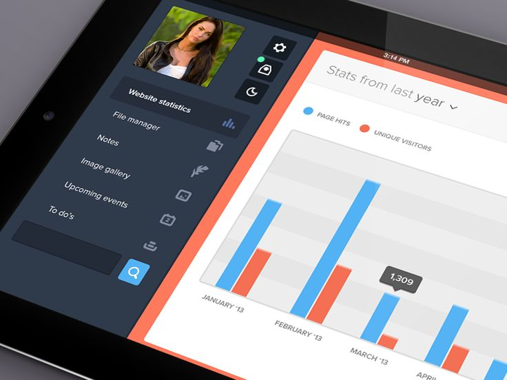 Dashboard - Mobile app interface UI UX