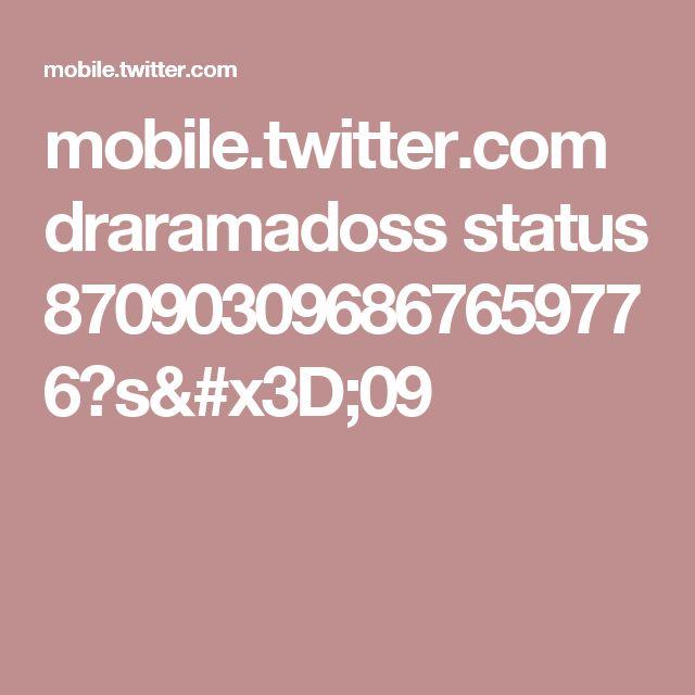 mobile.twitter.com draramadoss status 870903096867659776?s=09