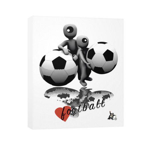 Love Football Vertical Canvas