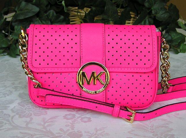 dfa6beb549fbf4 ... new zealand bright pink michael kors purse 10b85 55dc3