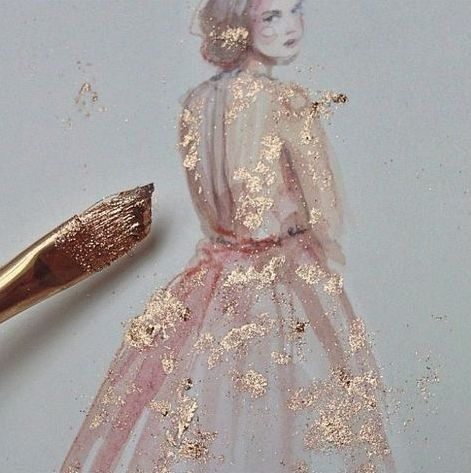 gold flaked pigment