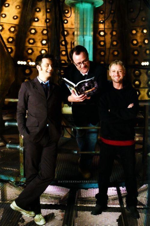 David Tennant, Russell T Davies, John Simm