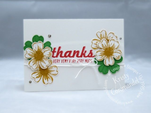 Create Quick and easy card featuring Stampin' Up! Fabulous Four & Flower Shop Stamp Set.  View Video tutorial & instructions on Blog
