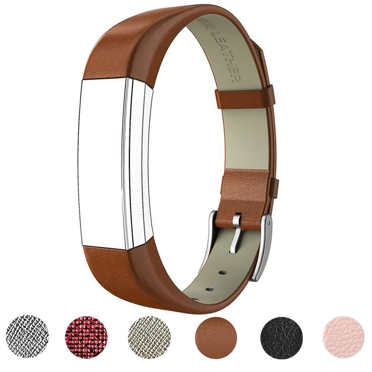 For Fitbit Alta HR and Alta Band With Metal Clasp, Premium Soft Genuine Leather Wristband Strap Replacement Watch Band for Fitbit Alta/Fitbit Alta HR 2017/Alta HR Smart Fitness Tracker(Brown). Perfect fit - specially designed for your Fitbit Alta HR & Fitbit Alta, Match your daily style, outfit and your business outfits. Fashion Look - Genuine Leather replacement bands with stainless steel buckle which is fasionable craftsmanship, durable, and comfortable touch feeling on your wrist…