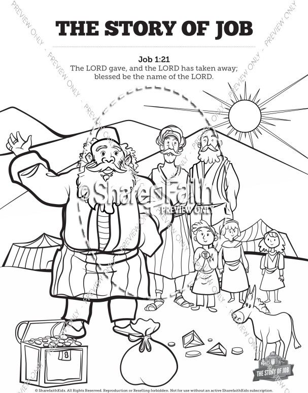 The Story Of Job Coloring Sunday School Activities Sunday School Coloring Pages Sunday School Coloring Pages Sunday School Activities School Coloring Pages