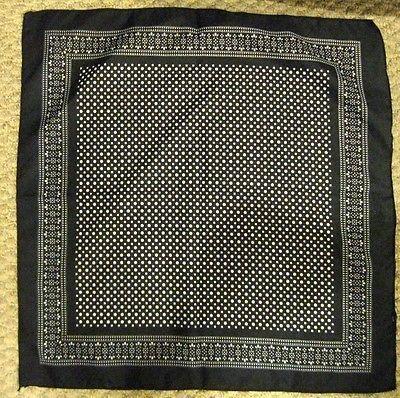 Black with White Polka Dots Bandana Double Sided Head Wrap Scarf Wristband-New