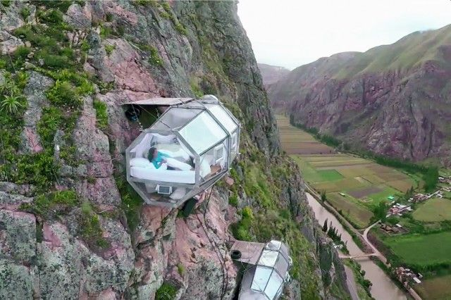 Let's start this off right, it hangs 400 ft. above Peru's sacred valley. So if your travels typically involve adventure, this is definitely something you're going to want to check off your bucket list. They're called sky lodges, and they're basically futuristic, transparent sleeping capsules. In other words, if you're looking for a room with a... Read more »