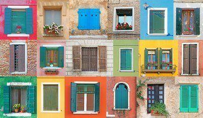 Naklejka na Ścianę Okna włoski
