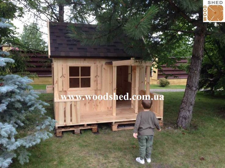 Популярность #Остапчика среди детишек растет 🌞 #Игровой #домик_из_дерева для самостоятельной сборки. Клиент справился со сборкой за выходные.💪 Устанавливали на деревянные поддоны.  Спасибо заказчику за фото! Здоровья и веселья Вам и Вашим деткам от #Woodshed. #домик #деревянный #купить http://woodshed.com.ua/detskie-domiki/24-detskij-domik-ostapchik.html