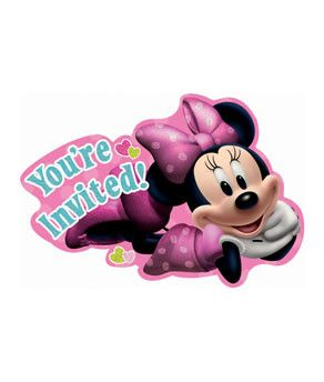 Minnie Mouse Invitations | 8 ct